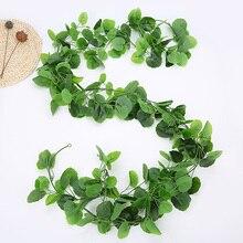 2.2 M Artificial Flower Simulation Green Ivy Leaf Fake Plants Vine String Leaves For Home Holiday Wedding Garden Decoration