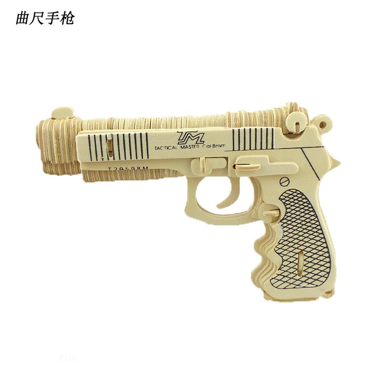 Freeshipping Toy Gun Scale Toys M92F Pistol DIY Wooden Miniature Building Toys ...