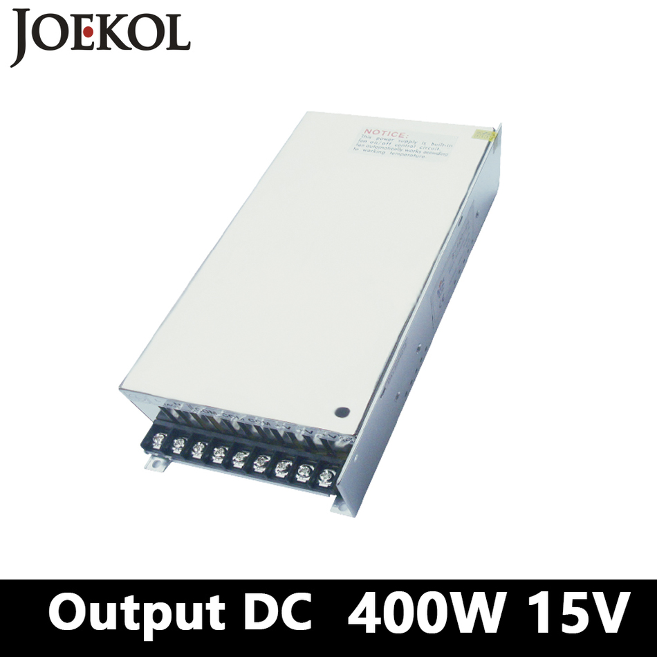 цена на Switching Power Supply 400W 15v 26A,Single Output Ac-dc Power Supply For Led Strip,AC110V/220V Transformer To DC 15V,led Driver