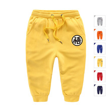 Casual Sport Trousers Cotton Baby Boys Running Pants Kids Slacks Chinese Character For Age 2-8 Years Old