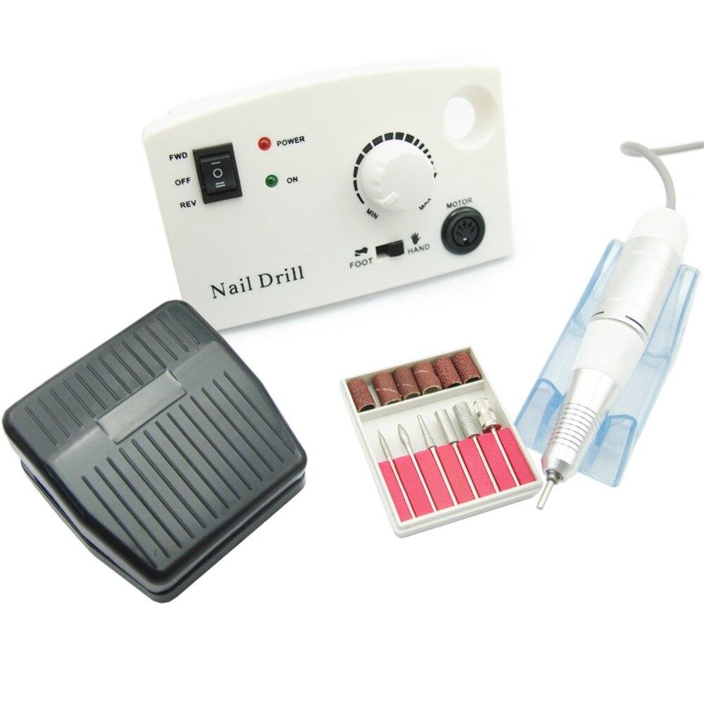 30000RPM Pro Electric Nail Drill Machine Electric Manicure Machine Drills Accessory Pedicure Kit Nail Drill File Bit Nail Tools