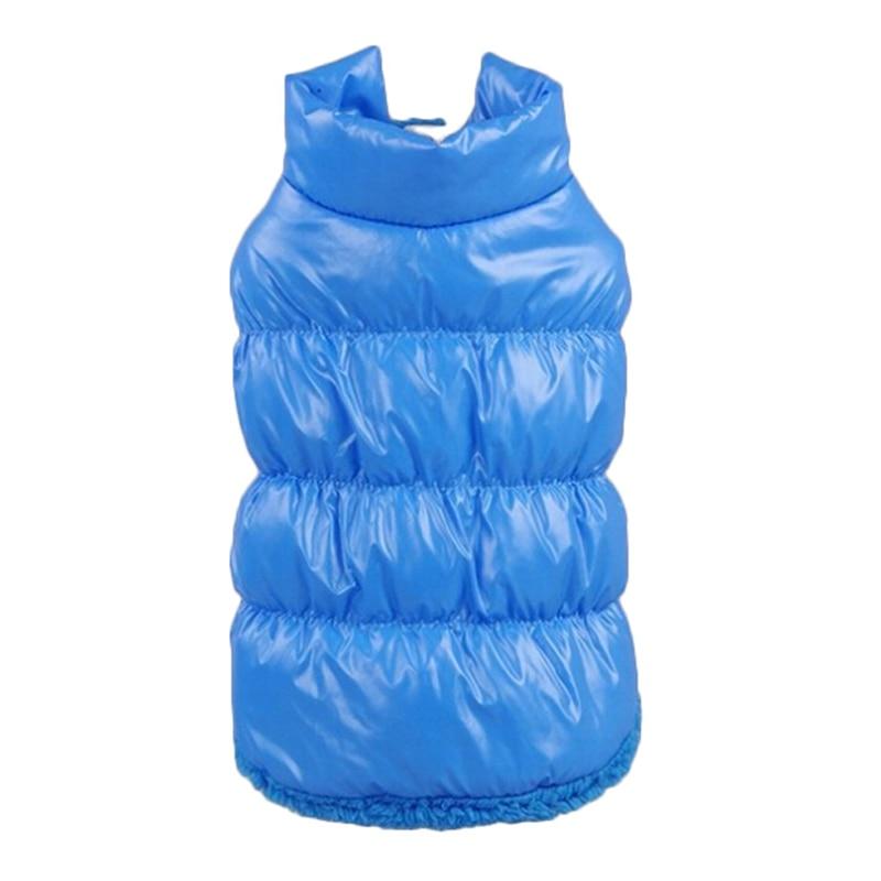 Kış Köpek Giysileri Pet Yastıklı Yelek Coat Köpek Sıcak Aşağı Polar + Polyester Köpek Mont ve Ceketler Giysileri XS-XXXL Kostüm için Köpek