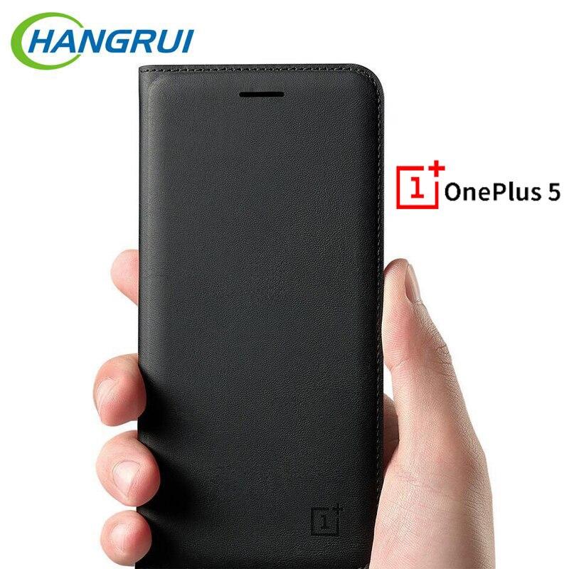 HangRui pour Oneplus 5 Cas En Cuir De Luxe PU Ultra-mince Anti-frapper Portefeuille cas flip cas pour 1 plus 5 A5000 cas capa Fundas