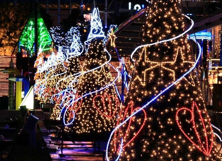 Jule led stripe Light Salt Vanndrevet LED String Lampe 12M 100LEDs - Ferie belysning - Bilde 6