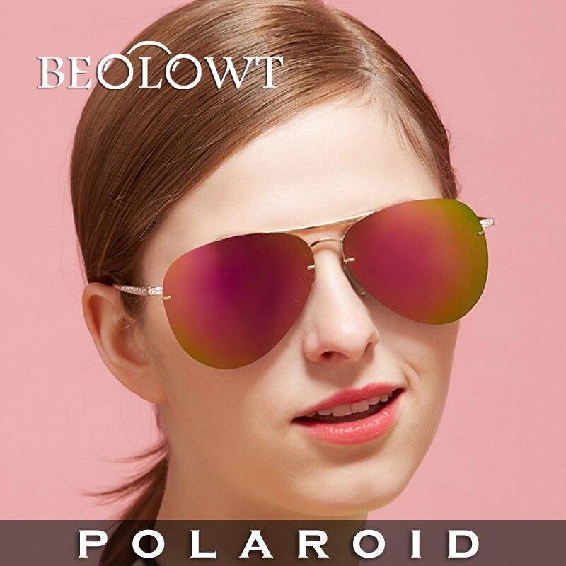 1d715f30c Beolowt marca individualidade moda óculos de sol polaroid óculos  polarizados condução óculos de sol da liga para as mulheres bl364