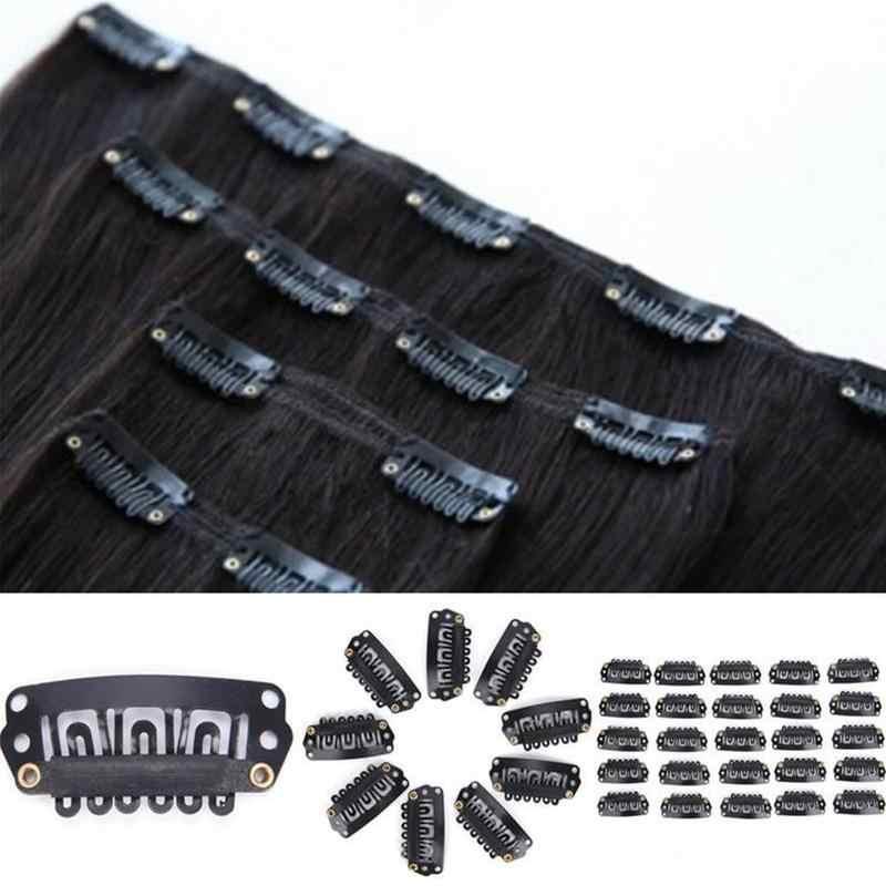 40 шт./лот U блонд/коричневый/черный зажим для наращивания волос парик Уток 32 мм 28 мм MTF2590