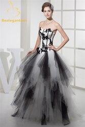 Bealegantom 2021 laço preto apliques vestido de baile quinceanera vestidos tule frisado doce 16 vestidos de 15 anos qa1053