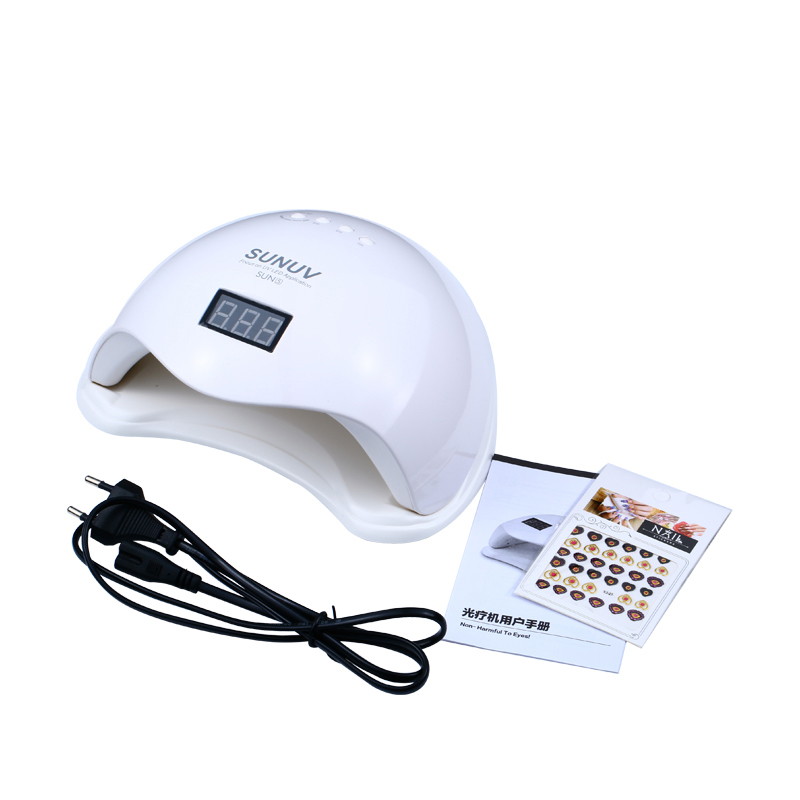 Sun5 UV Led Nail Lamp 48W with LCD Timer and Bottom Makeup Nail Dryer Polish Machine