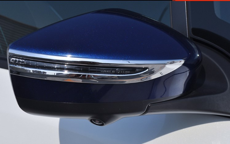 Exterior Mirror Deflector Cover Trims Accessories 2pcs For Nissan Leaf ZE1 2017 2018 2019 For Nissan Kicks 2016-2018
