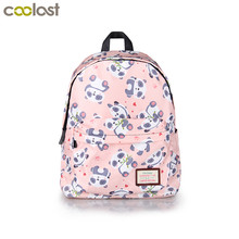 Kawaii Cartoon Panda Backpack For Teenage Girls Children School Bags Women Shoulder Bags Student School Backpack Kids Bookbag(China)