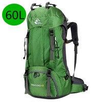 2019 New 60L Outdoor Backpack Camping Climbing Bag Waterproof Mountaineering Hiking Backpacks Molle Sport Bag Climbing Rucksack