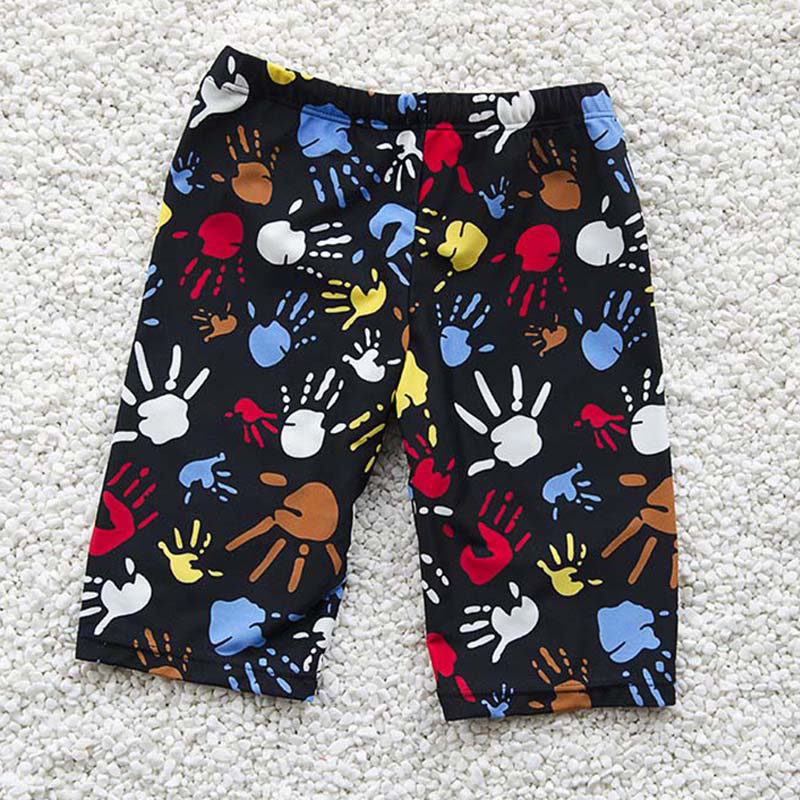 Boys Swim Trunks For 3-12Y Kids Knee Length Shorts Swim Beach Wear Fifth Pants Cartoon Boys Kids Trunks Swimsuit Bathing Suits