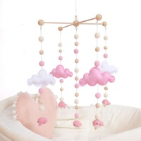 Cute Pastel Pink Whale Baby Bed Bell Classic Sensory Toy Nurse Charms Baby Moblie Shower Gift Baby Nursing Accessories