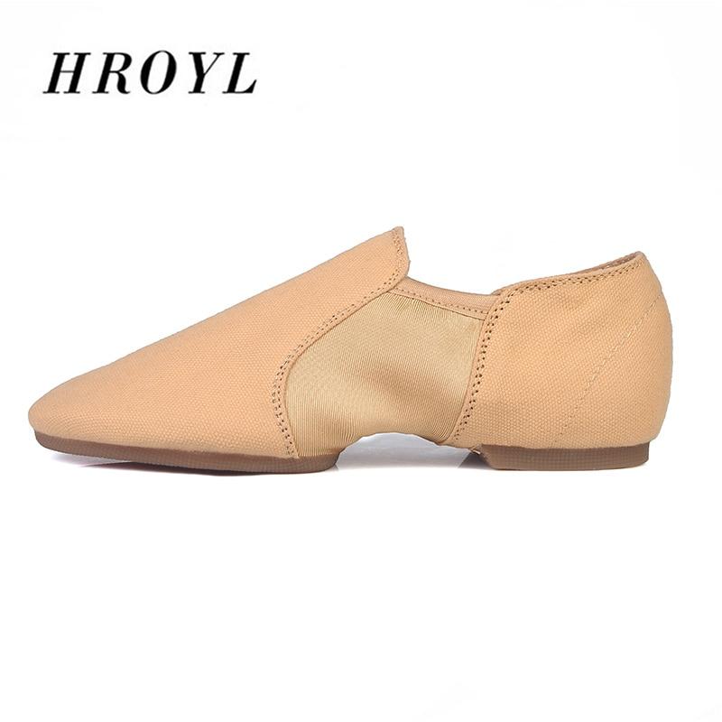 836ae8756b Hot Selling HROYL Canvas Jazz Shoes Dance Shoes PU For Men Ballroom ...