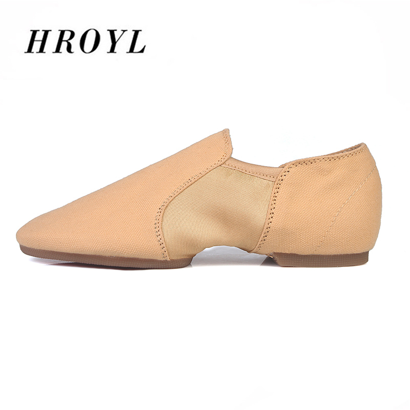 Hot Selling HROYL Canvas Jazz Shoes Dance Shoes PU For Men Ballroom Tango Women Dance Shoes Sneakers Adult Children Wholesale