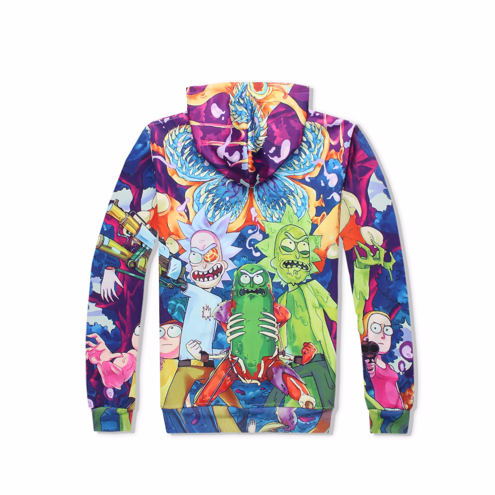 Cartoon Rick and Morty Print 3D Hoodies Women Men Hip Hop Hoody Streetwear Casual Hooded Sweatshirts 2018 Fashion Brand Clothes in Hoodies amp Sweatshirts from Men 39 s Clothing