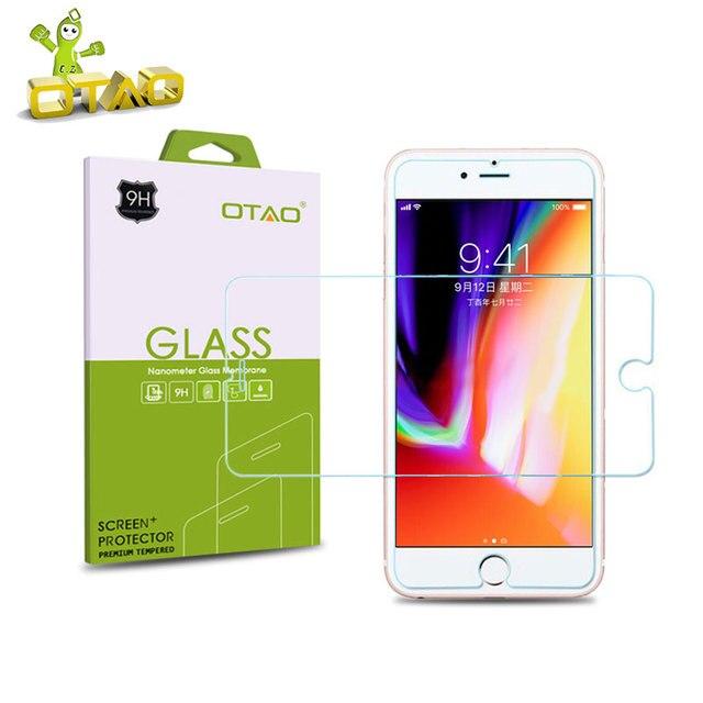 OTAO закаленное Стекло Экран протектор Плёнки для Apple IPhone X 8 7 6 6 S плюс 5S SE 5C 4S закаленное защитное С розничной Вышивка Крестом Пакет