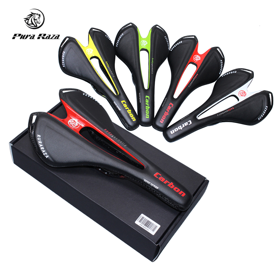 2017 Carbon Saddle Ultralight 135g Full Carbon Fiber+Genuine Leather Bicycle Saddle MTB Road Cycling Bike Saddle Seats 270*143mm carbon saddle mtb road bicycle saddle seats carbon fiber titanium steel rail genuine leather bike seats ultralight cycling parts