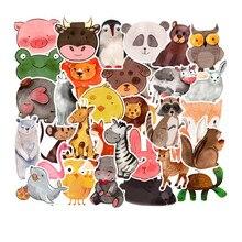 50 шт Супер милые Мультяшные наклейки с животными для автомобиля ноутбука телефона накладка наклейка с велосипедом на стену детский подарок кошка свинья собака