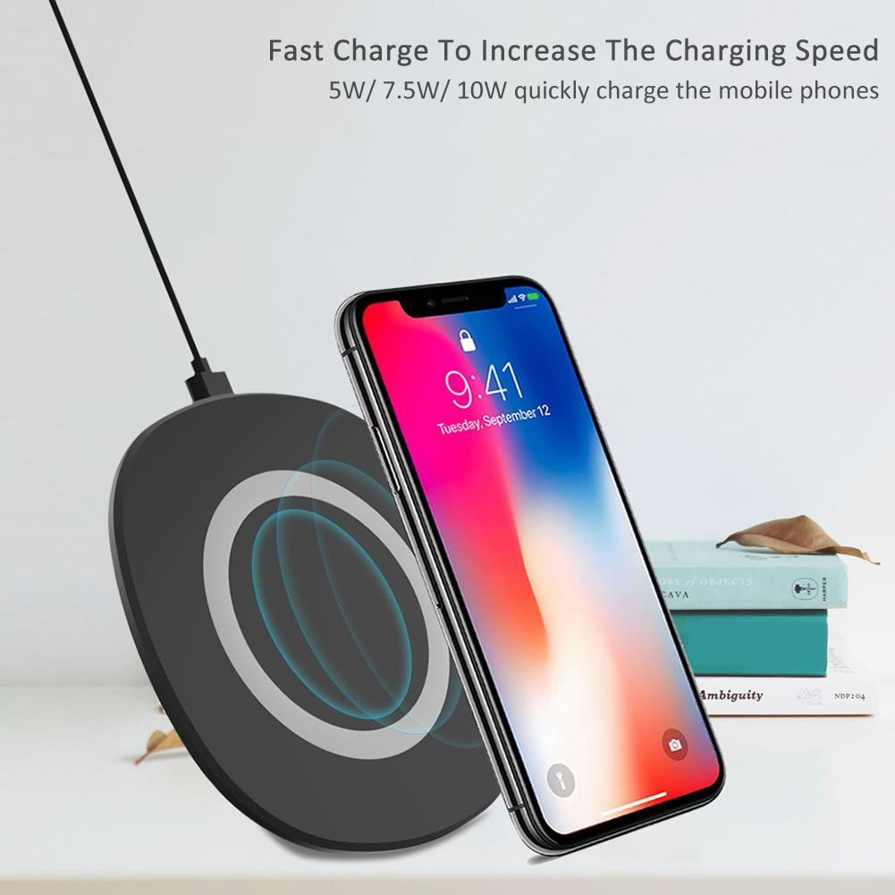 Qi Wireless Charger for iPhone X 8 Visible 7.5W Fast Wireless Charging for Samsung Galaxy S9 S9+ S8 Note 8 for Xiaomi Huawei