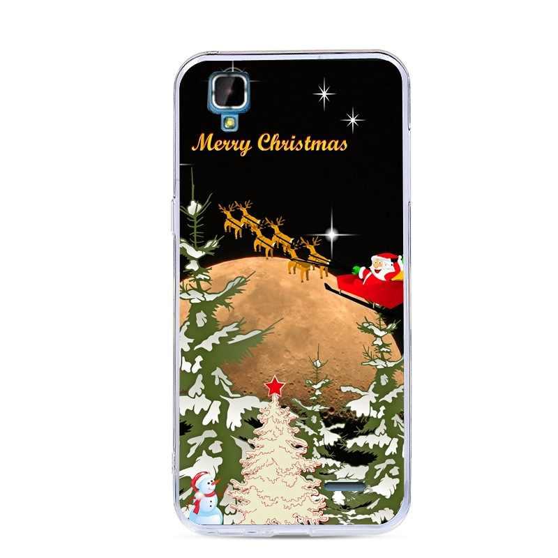 メリークリスマス電話ケース DEXP Ixion EL350 ボルトケースシリコーン TPU ソフト塗装カバー DEXP ため Ixion EL350 ボルト 5.0 インチ