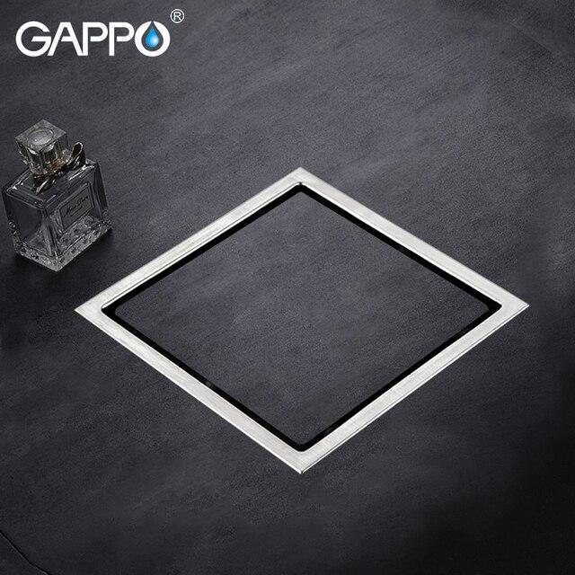 GAPPO Drains stainless steel floor drain bathroom floor cover shower room drain floor drains shower strainer