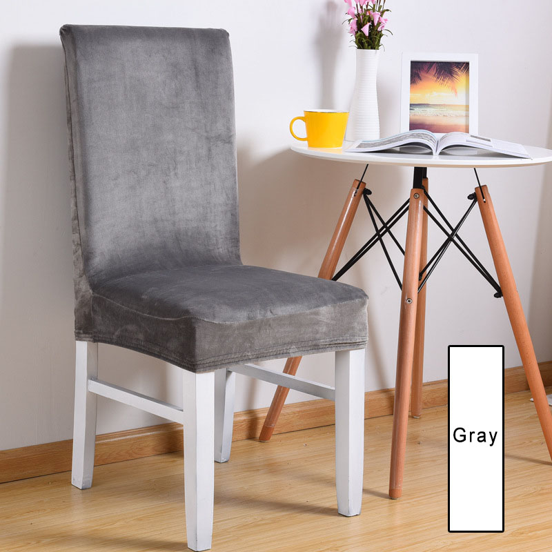 ESQUIRE 5 Colors Spandex Chair Cover Soft Comfortable Dining Chair Covers Restaurant Hotel Banquet Decoration Stretch Cover