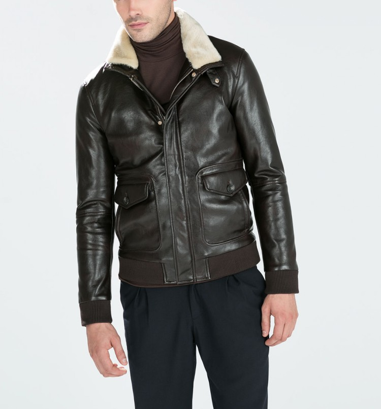 Mens Leather Bomber Jacket With Fur - Pl Jackets
