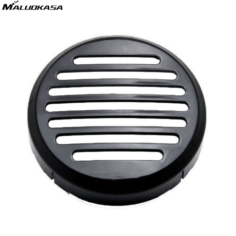MALUOKASA Horn Cover For Honda VTX/Ace/Spirit/Shadow/Sabre VLX Cruiser Bikes Black Chrome 3.5 Inch ABS Round Horn Protector Sale horn cover for honda shadow vt vlx 600 magna aero spirit 1100 ace vtx 1300 1800 c black
