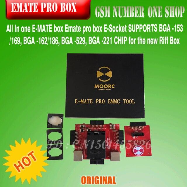 new version Emate box E-Socket No weldingsupports bga 153/169,bga-162/186,bga529,bga 221 For J-tag Box,riff box,atf j-tag