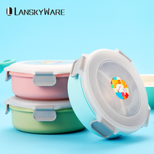 Multifunctional Kids Lunch Box Japanese Instant Noodle Bowl Container For Food Leakproof 304 Stainless Steel Bento