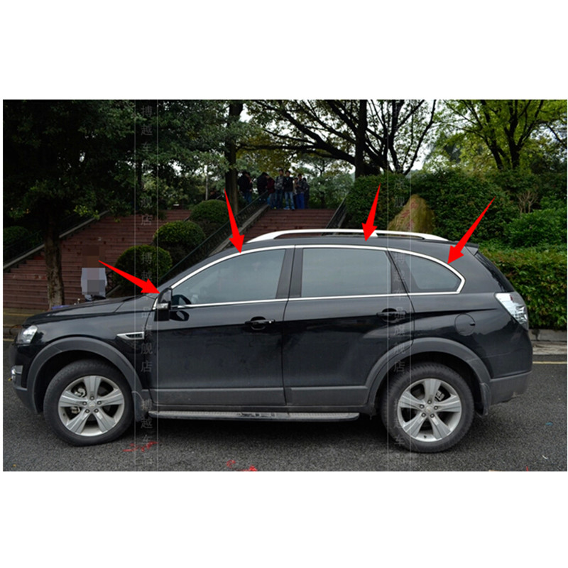 High-quality stainless steel Strips Car Window Trim Decoration Accessories Car styling For 2011-2014 Chevrolet CAPTIVA( 6piece) free shipping 304 stainless steel car window chrome trim decoration car styling for ford edge 2011 2012 2013 2014 page 7
