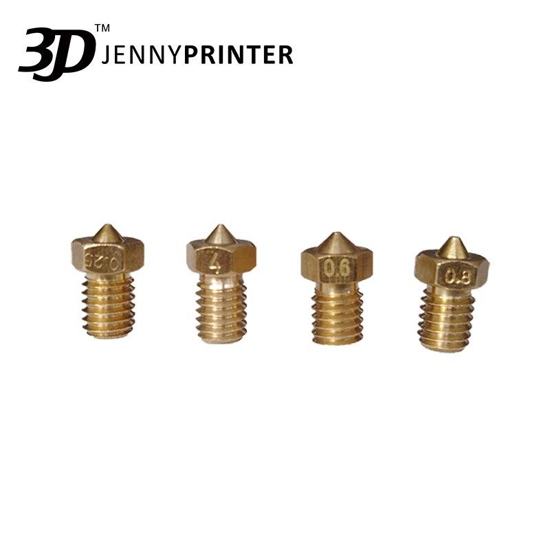 Насадка для 3D-принтера Jenny диаметром 0,25 мм для нити 1,75 мм buse imprimante 3D
