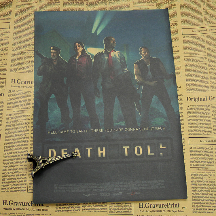 Light the road to survive farcry dies 4 left 4 deada3 retro kraft paper game posters