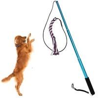 Pet Dog Cat Puppy Training Bastone Lunghezza Estensibile Bacchetta Interattiva Giochi All'aperto Divertimento Interattivo A Caccia Cane Giocattolo
