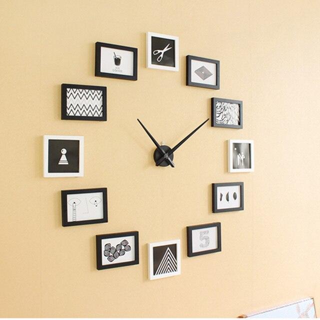 Foto creativa Marcos aguja personalidad Reloj de pared de cuarzo ...