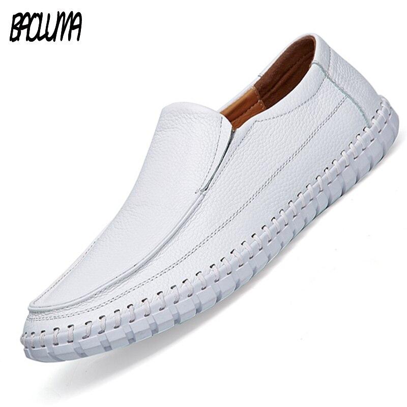 Мужская обувь больших размеров Мокасины мужские кожаные лоферы летние Роскошные прогулочные повседневные туфли вождение, для катеров мужс...
