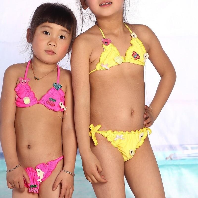 21793b197f9 US $5.98  2015 new summer style girls clothing kid swimsuit girls bikini  swimwear cute cartoon two Pieces Swim Suit Costume Skirt on Aliexpress.com    ...