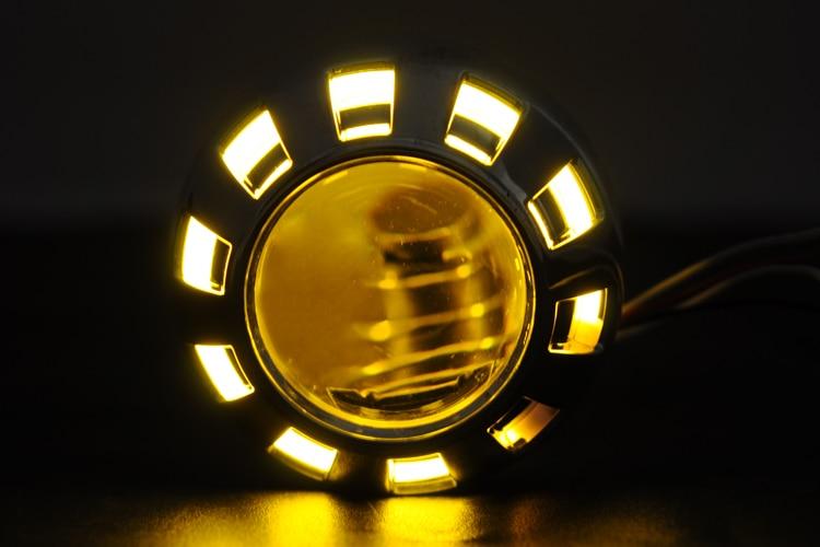 2 pouces 35 W Bi xenon HID moto projecteur lentille avec angle yeux Halo anneau H4 H7 moto phare Kit 4300 K 6000 K 8000 K