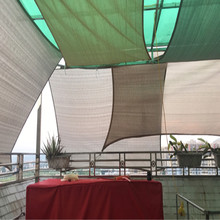 6 x 6 M pcs breathable HDPE net Square Sun Shade Sail with 95 shading UV