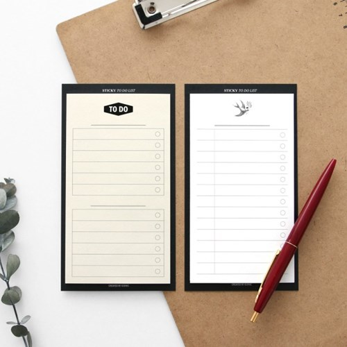 Business Fashion Sticky Planner Pad DIY To Do List 14.5*8cm 30 Sheets School Office Supplies 2018 pet transparent sticky notes and memo pad self adhesiv memo pad colored post sticker papelaria office school supplies