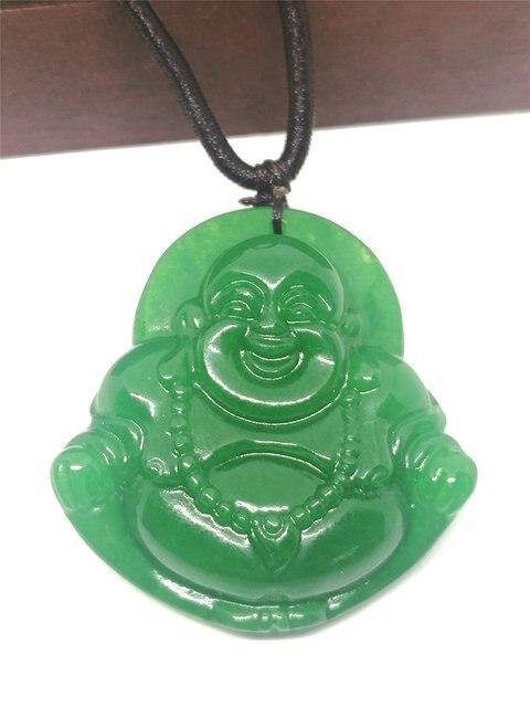 Big green laughing buddha jade pendant necklace jewelry gift big green laughing buddha jade pendant necklace jewelry gift natural gemstone aloadofball Images