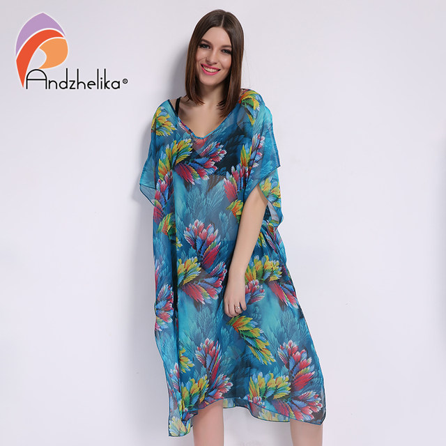 Online Shop Andzhelika 2017 New Plus Size Beach Cover Up Women ...
