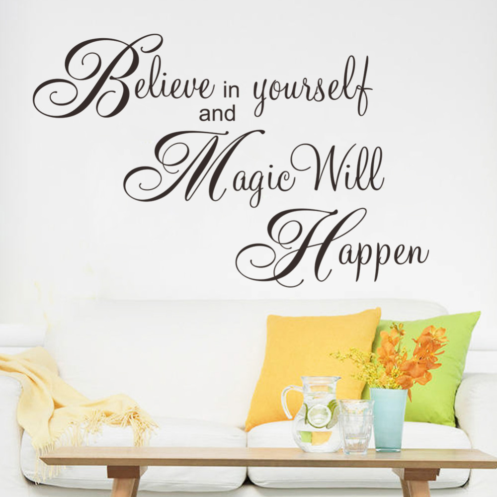 Nursery Ideas And Décor To Inspire You: Magic Will Happen Inspiration Quote Wall Sticker Decal