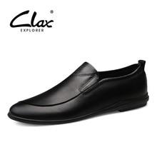 CLAX/мужская кожаная обувь без шнуровки; коллекция года; сезон весна-лето; повседневные лоферы; мужские водонепроницаемые мокасины из натуральной кожи; прогулочная обувь; мягкая дышащая обувь