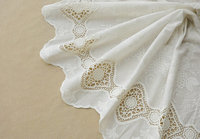 cotton lace fabric with retro floral hollowed out floral pattern