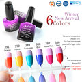 #60913 CANNI New Product 7.3ml 6 Color Soak Off UV/LED Chameleon Thermal Mood Change Gel Polish Top Coat Gel Nail Polish