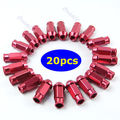 20pcs D1 Spec M12 x 1.5 Racing Lug Wheel Nuts Screw Red