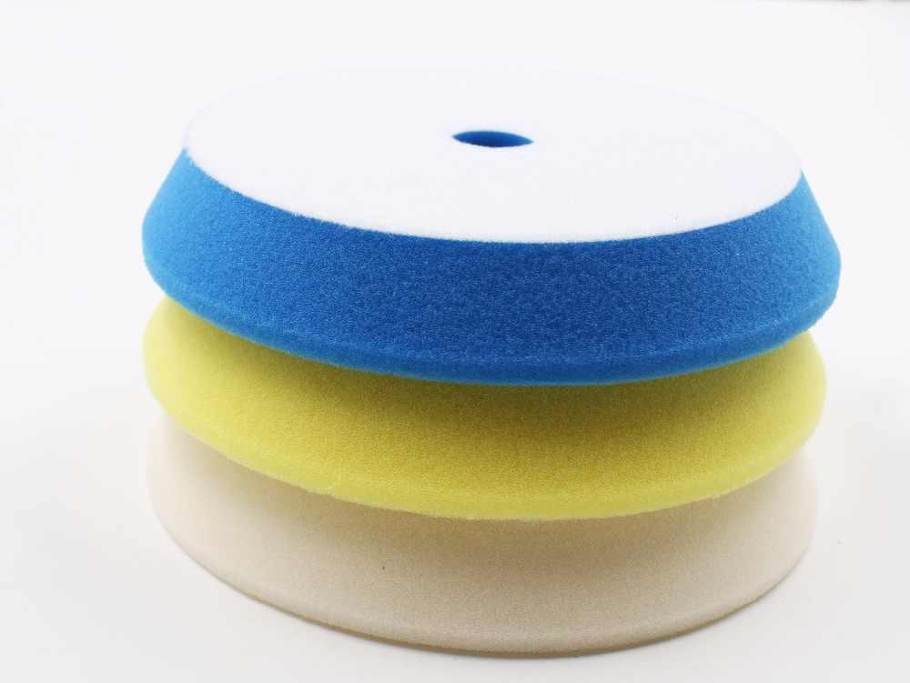 6'(150-180mm)Rupess style GERMAN material solf Buffing&polishing foam Pad 1lot/3pcs(1compounding/1polishing pad/1 finishin pad