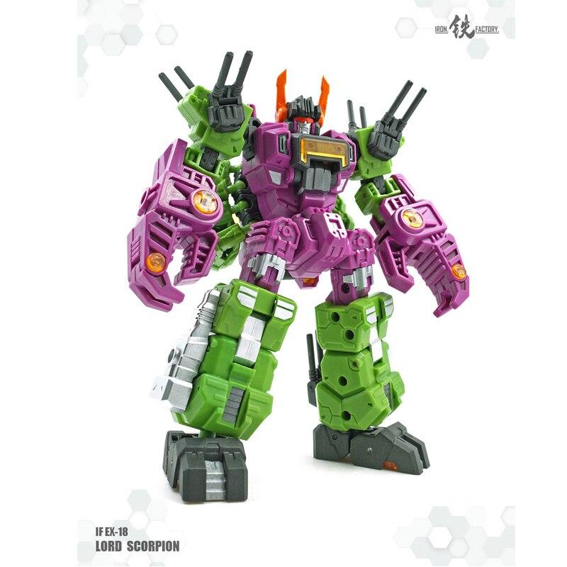 ФОТО ( In Stock ) Toys IronFactory IF-EX18 MegaZarak Scorponok Lordscorpion Caricature Version
